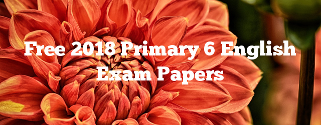 Free 2018 Primary 6 English Exam Papers